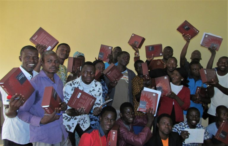 Some students with their Bibles